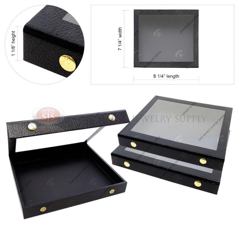 3 Display Cases Acrylic See Through Top Storage Organizer Wood Case Travel Case