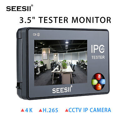 Seesii 3.5 4k Cctv Ip Camera Tester Monitor Analog Cvbs Test Ptz Control Wifi