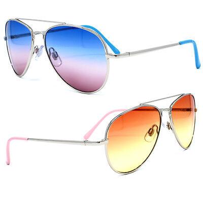 Cool Child Kids Boy Girl UV400 Aviator Ocean Lens Sunglasses Metal Frame - Kids Aviators