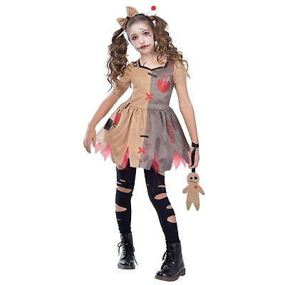 Girls Voodoo Rag Doll Costume Halloween Witch Doctor Fancy Dress Outfit Kids - Doctor Halloween Costume Girl