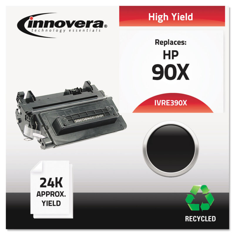 Innovera Remanufactured CE390X (90X) High-Yield Toner Black
