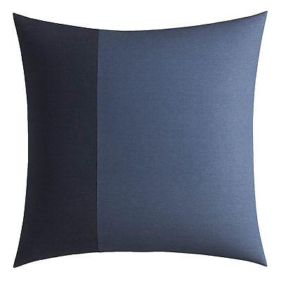Nautica LOCKRIDGE New $65 EURO Sham European Pillowcase Blue Navy Blue NWT NIP Nautica Blue European Sham
