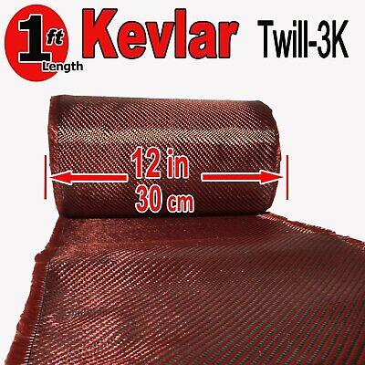 1 Ft X 1 Ft - Made With Kevlar-carbon Fiber Aramid Fabric- 3k2k-200g- Red