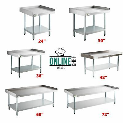 Stainless Steel Work Prep Tables Commercial Equipment Stand Undershelf 16 Gauge
