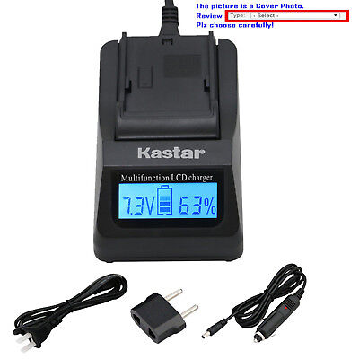 Kastar Battery LCD Fast Charger for Sony NP-F550 CCD-TR3100 CCD-TR3200 Camcorder