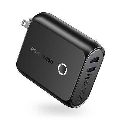 Poweradd AC Plug 5000mAh Power Bank Portable Charger & Dual
