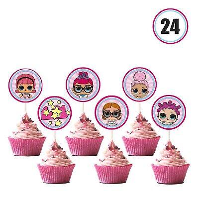 1st Birthday Themes For Girls (LOL Cupcake Toppers Girls Topper Set, Decorations for 1st Birthday Theme)