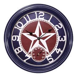 404-3012TX La Crosse Clock Co. 12 Indoor/Outdoor Wall Clock with Temperature