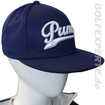 PUMA GOLF UNISEX YOUTH SCRIPT COOL CELL CAP ONE SIZE PEACOAT-WHITE BLAU