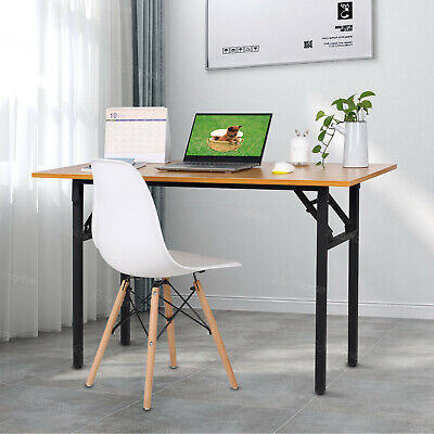 1.2M Foldable Wood Computer Desk Study Writing Table Lightweight No Assemble