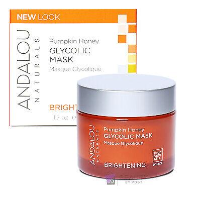 Andalou Naturals Glycolic Face Mask Pumpkin Honey 50g   Puffy Eye Treatment
