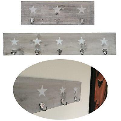 Design Holz Wandgarderobe Garderobenleiste Hakenleiste Garderobe Shabby Landhaus