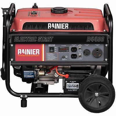 Rainier 4400-w Portable Gas Powered Generator W Electric Start Home Rv Camping