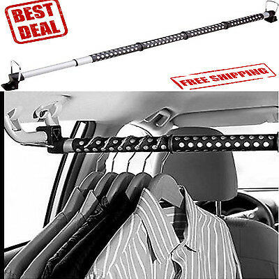 (Car Clothes Bar Rod Rack Hanger Hanging Truck Suv Storage Organizer Vehicle Auto)
