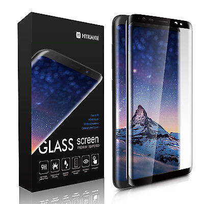 Full Cover Tempered Glass Screen Protector For Samsung Galaxy S8 S9 Plus /Note 9