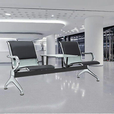 Airport 2 Seat Office Reception Chairs Salon Waiting Room Porch Bench  Furniture