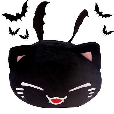 Plüschtier Nemu Neko - Schwarz Nemuneko Black Vampir Halloween Gothic Edition