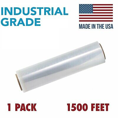 18 X 1500ft X 80 Gauge Extra Thick Durable Pallet Stretch Wrap Film 1 Pack