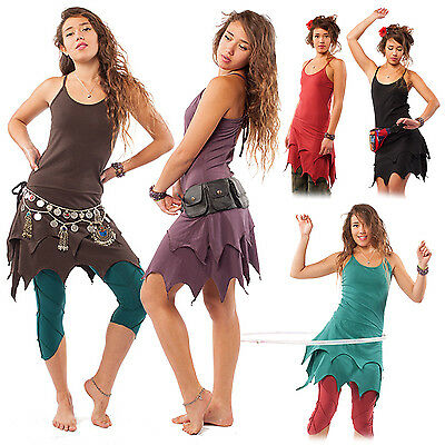 Organic Cotton Pixie Dress, Psy Trance Dress, Goa Fairy, Plus Size Fae Dress XXL - Plus Size Fairy