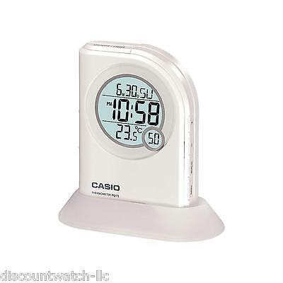 Casio PQ75-7 Multi-Function Digital Thermometer Table Top Alarm Clock LED Light