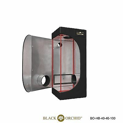 Black Orchid 0.4m x 0.4m x 1m Grow Tent Dark Room Box Hydroponics