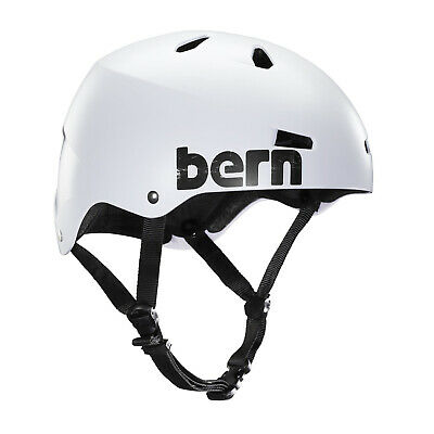 BERN Skateboard Helmet MACON HARDHAT Satin White Size XL Bern Macon Hard Hat