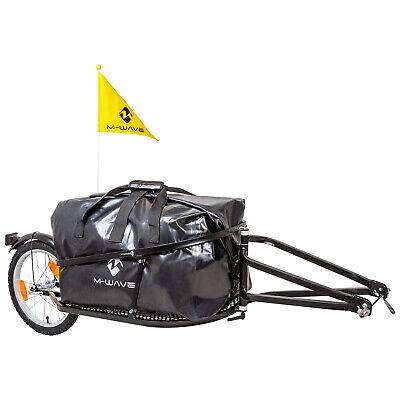 M-Wave Einspur- / Einrad- Gepäck-Fahrradanhänger Schwarz NEU 640081