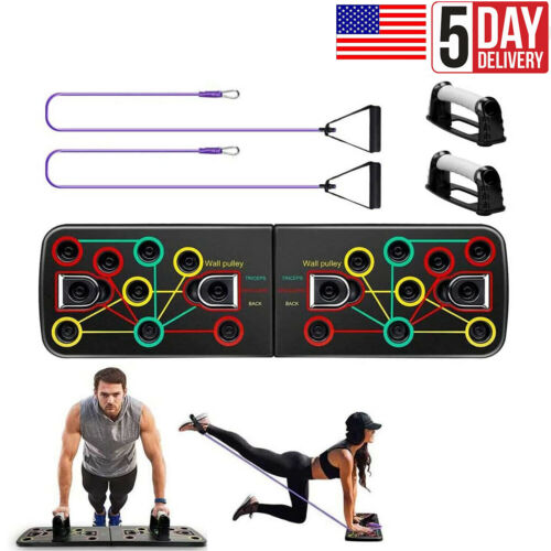 14 in 1 Push Up Board Rack System Fitness Workout Gym Exercise Push-ups Stands