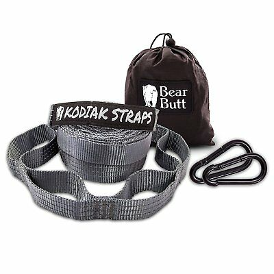 Bear Butt Kodiak Hammock Straps 40 Combined Loops 20 Feet Long Holds 2000lb GRAY