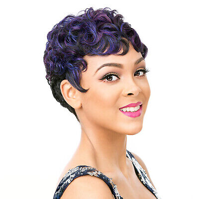 IT'S A WIG SYNTHETIC FULL WIG SHORT MAMA CURL STYLE - NUNA ()