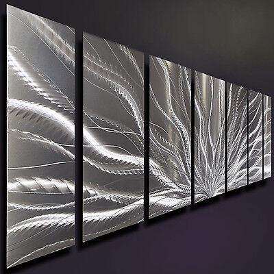 Silver Modern Metal Wall Art Sculpture, Abstract Metal Wall Hanging by Jon Allen