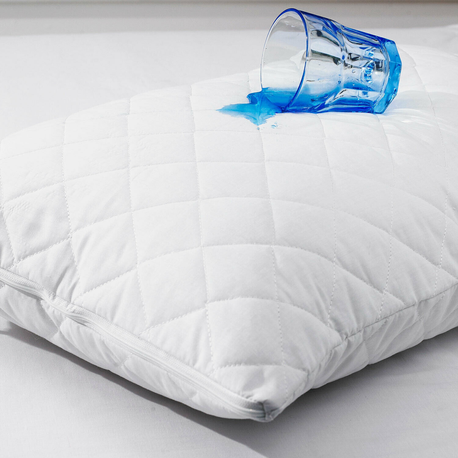 4 Anti Allergy Poly Cotton Quilted Pillow Protector Quilted SALE