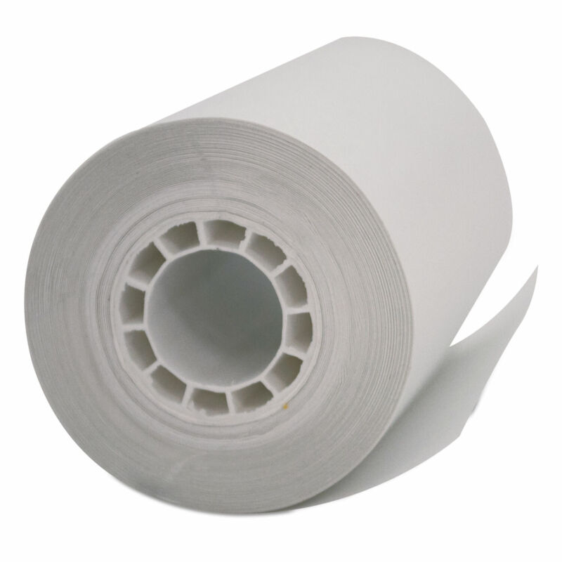 """Iconex Direct Thermal Printing Thermal Paper Rolls 2.25"""" x 55 ft White"""