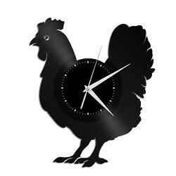 Poultry Vinyl Wall Clock Record Famous Animal Gift Home and Kitchen Decoration