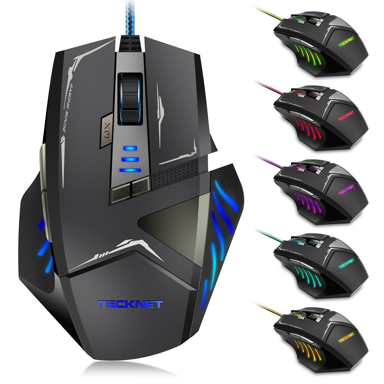 Mouse Gaming HYPERTRAK 7000 DPI Mouse da Gioco con Filo, 7 DPI regolabile, LED