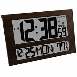 Large Digital Clock 6 Time Zones Wall Mount Watch Battery Office Art Home 4.7