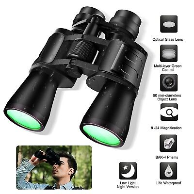 Day/Night 180x100 Military Army Zoom Powerful Binoculars Optics Hunting Camping
