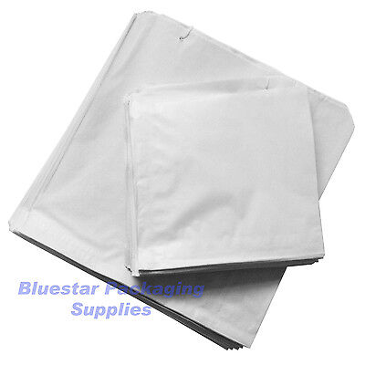 1000 x White Sulphite Paper Food Bags Strung 10