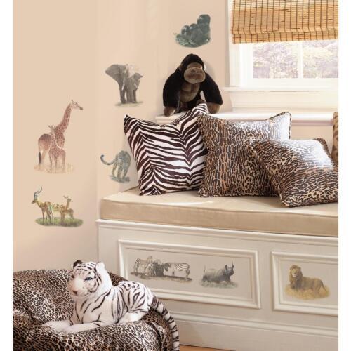 Details about SAFARI wall stickers 19 decals Zebra Giraffe Elephant