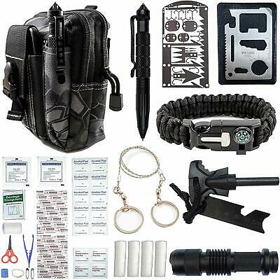 65 in 1 Outdoor Camping Survival Gear Kit First Aid Tactical Bag EDC Emergency K