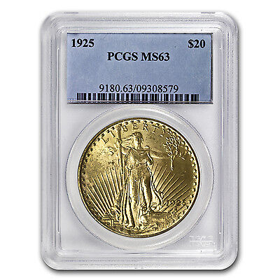 20 Saint Gaudens Gold Double Eagle Ms 63 Pcgs  Random    Sku  7223