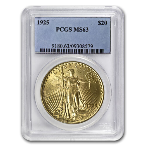 Купить US Mint - $20 Saint-Gaudens Gold Double Eagle MS-63 PCGS (Random) - SKU #7223