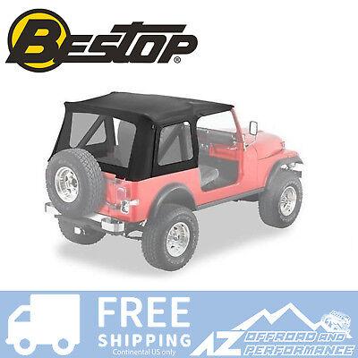 Bestop Supertop Replacement Skin 76-95 Jeep CJ7 / Wrangler Clear Windows Black