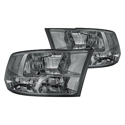 For Ram 1500 2011-2016 Lumen 87-1001612 Chrome/Smoke Euro Headlights