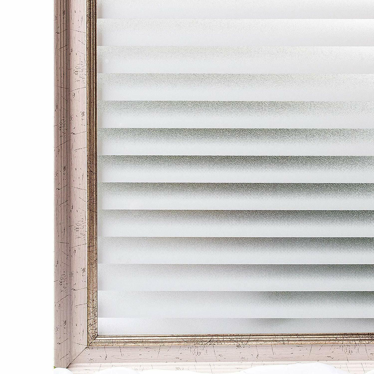 Rabbitgoo White Frosted Window Film Static Cling BlindS 35.4