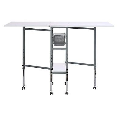 Folding Hobby Craft Table Drawer Sewing Fabric Cutting Height Adjust Rolling New for sale  New York