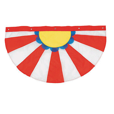 Circus Tent Decorations (CIRCUS CARNIVAL Big Top Tent Hanging Decoration Porch Balcony Fence BUNTING)