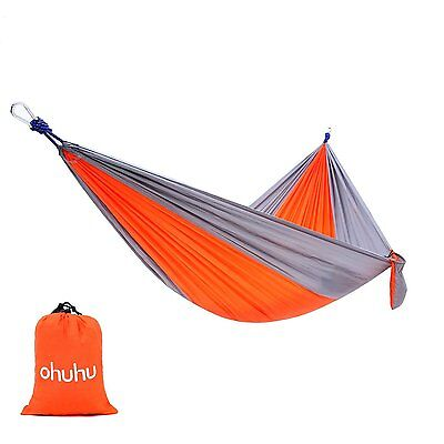 Double Hammock Tree 2 People Person Patio Bed Swing New Cotton Canvas Outdoor
