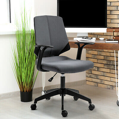 Midback Home Office Chair Mesh Executive Task Gaming Seat 360 Swivel -grey