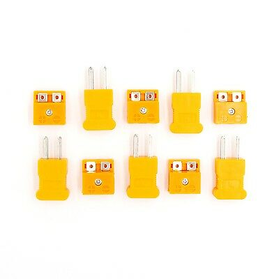 5 Pair K Type Male Female Mini Connectors Plug Thermocouple Temperature Sensors